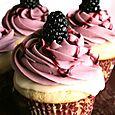 Blackberry White Chocolate Cupcakes