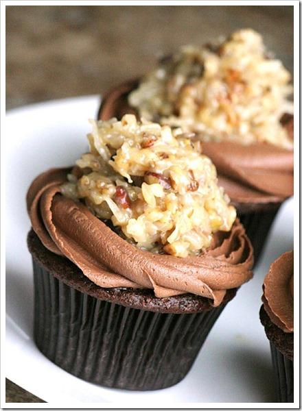 German Chocolate cupcakesT