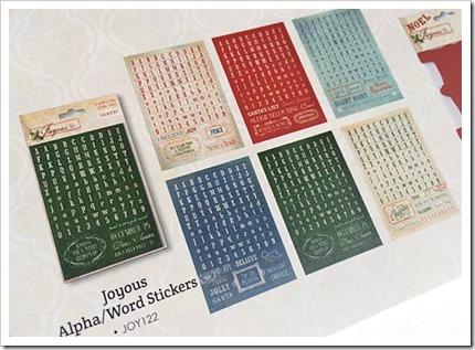 Joyous alpha word stickers