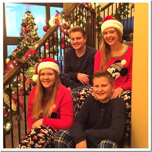 Christmas stairs 2014